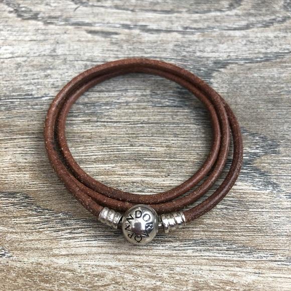 Pandora Triple Wrap Leather Bracelet